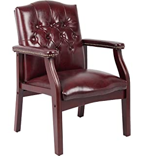 Boss Office Products B959 BY Ivy League Executive Guest Chair In Burgundy