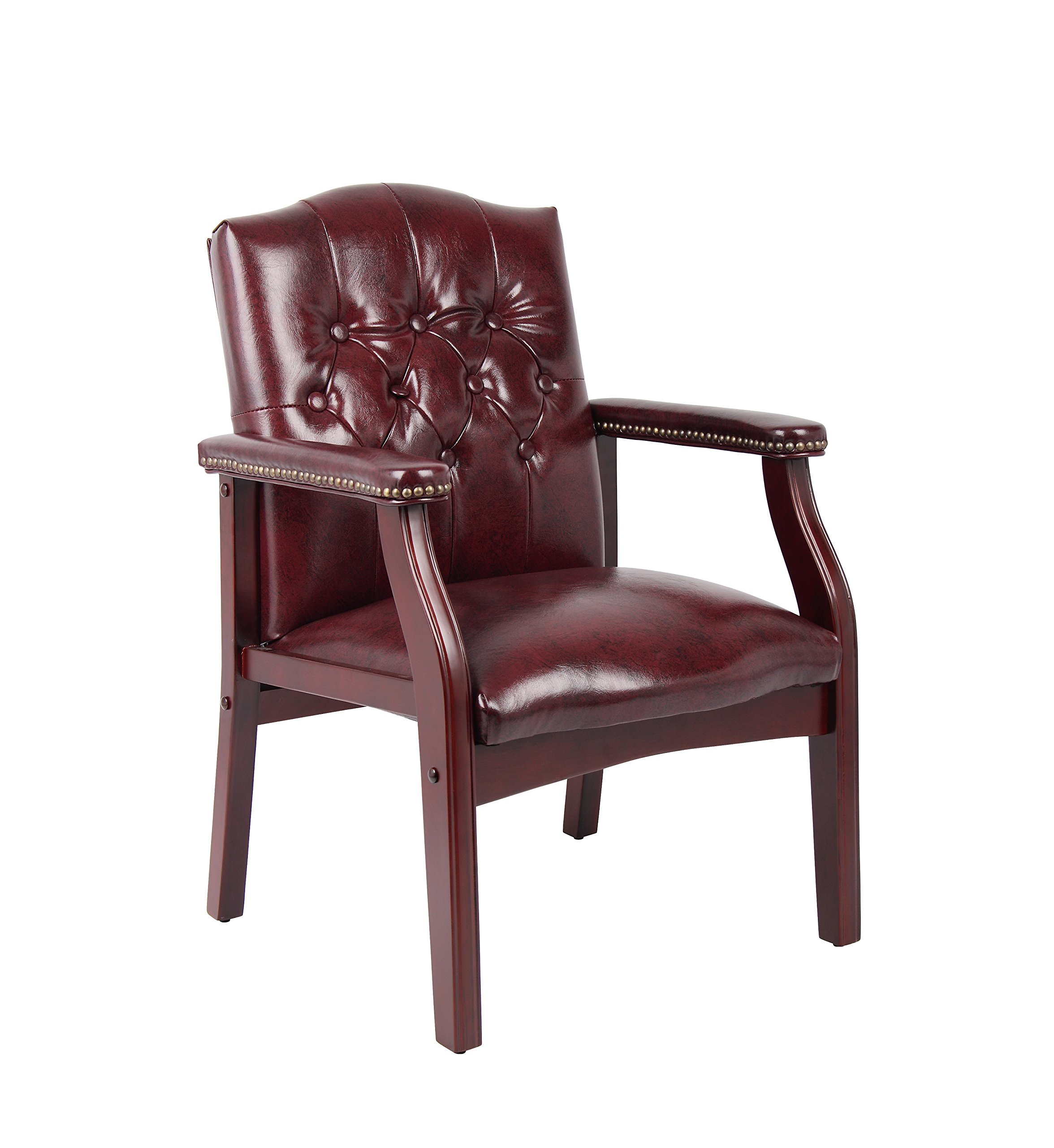 Boss Office Products B959-BY Ivy League Executive Guest Chair in Burgundy by Boss Office Products