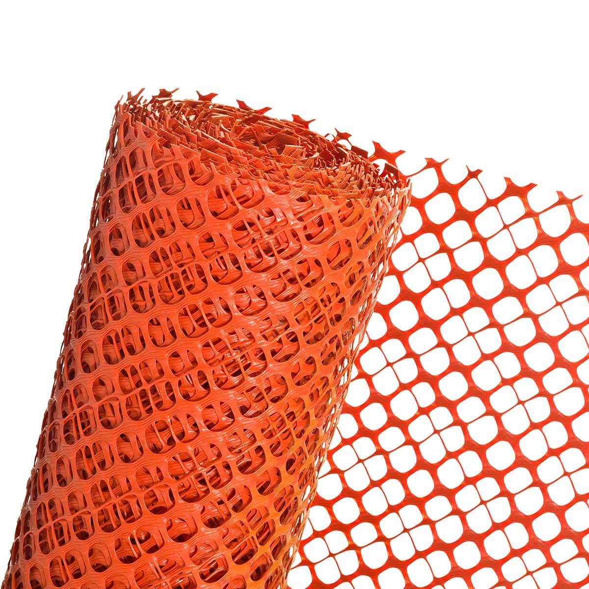 Schneefanggitter 1, 2m Höhe x 25m Schneezaun Schutzzaun in orange Novmax