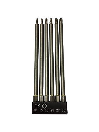 WERKON TORX Bits Set 150 mm 6 tlg. T10/T15/20/T25/T27/T30 mit ...