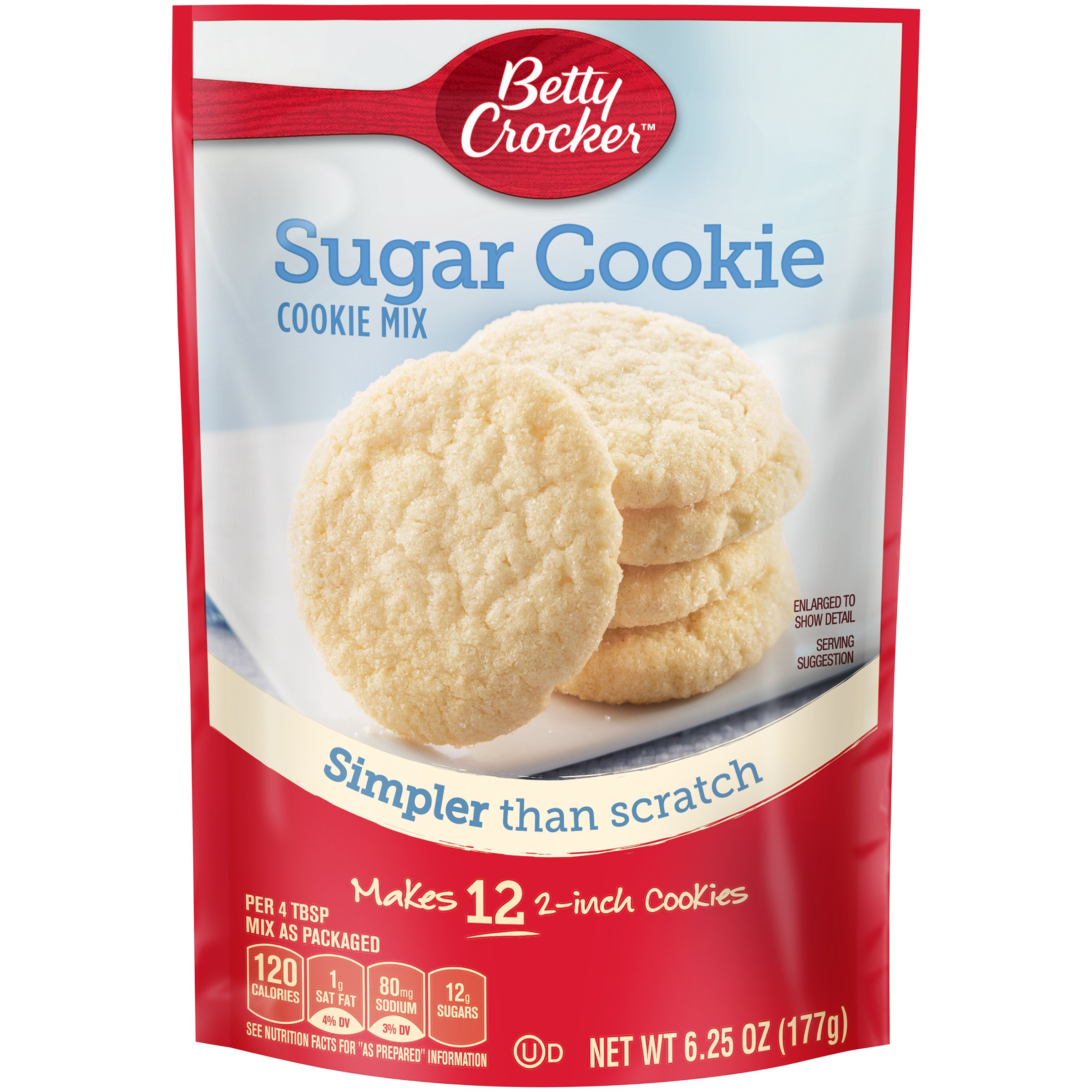 Betty Crocker Cookie Mix, Sugar, 6.25 oz Pouch