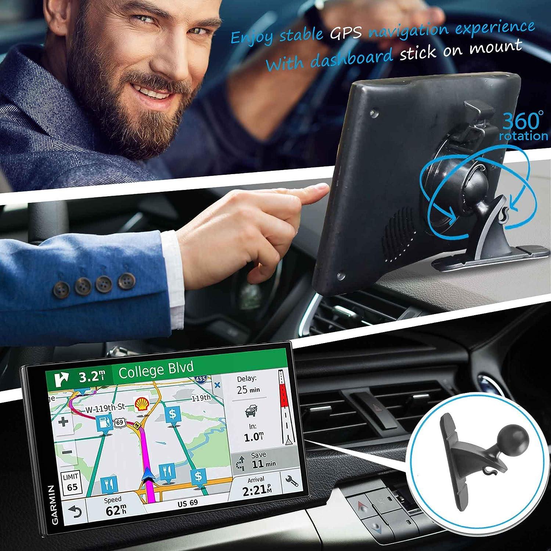Satnav Dash Holder GPS Mount for Garmin Randconcept Stick-On Dashboard Car Mounts for Garmin Nuvi 3.5-5 Inch GPS