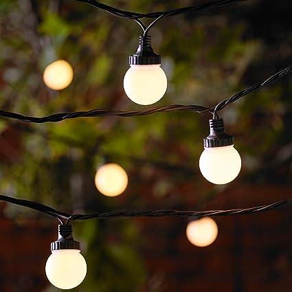 Catena Prolungabile Di 50 Lampadine Per Esterni Serie PRO Con Luci LED  Bianco Caldo Su Cavo