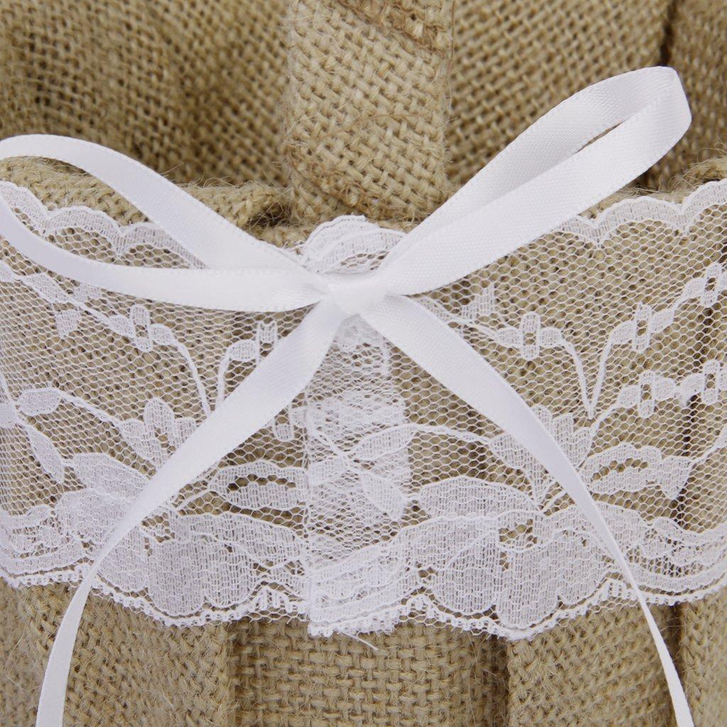 TaoNaisi Cesta de encaje vintage para boda