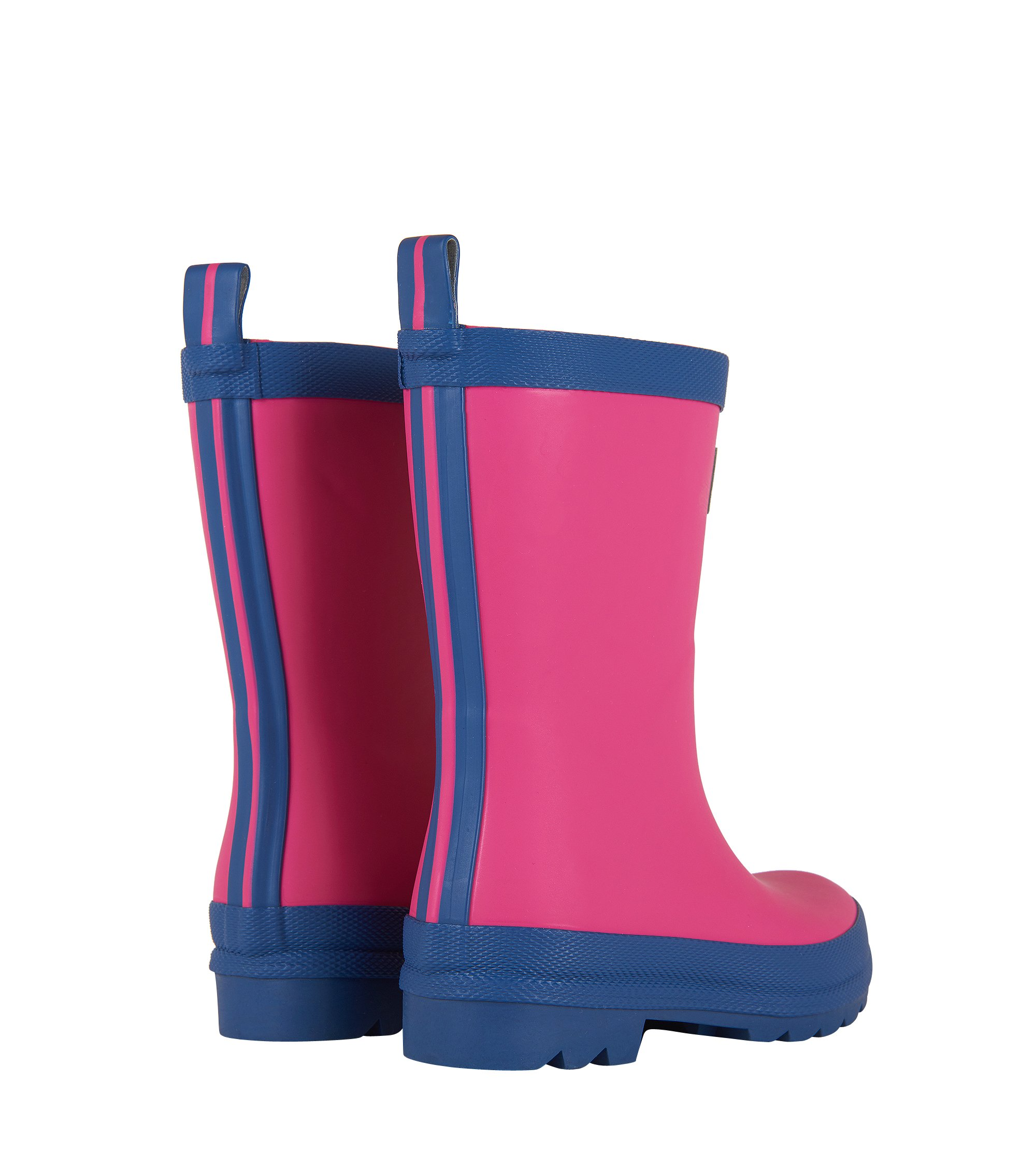 Hatley Kids' Classic Boots Girls Rain Accessory, Fuchsia Navy, 7 M US Toddler by Hatley (Image #8)