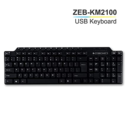 bc4b3a433 Amazon.in  Buy Zebronics Zeb KM2100 Multimedia USB Keyboard Online at Low  Prices in India