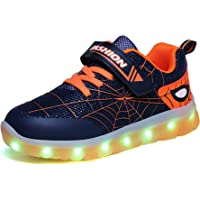 Kauson LED Zapatos Verano Ligero Transpirable Impermeable Bajo 7 Colores USB Carga Luminosas Parpadeo Deporte de…