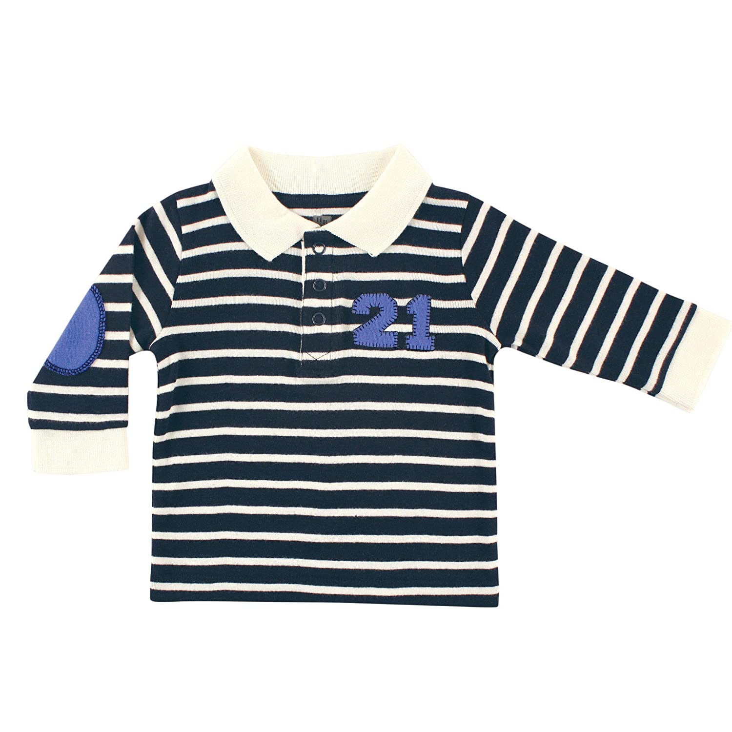 Hudson Baby Long Sleeve Striped Polo Shirt - Twenty One 10150685