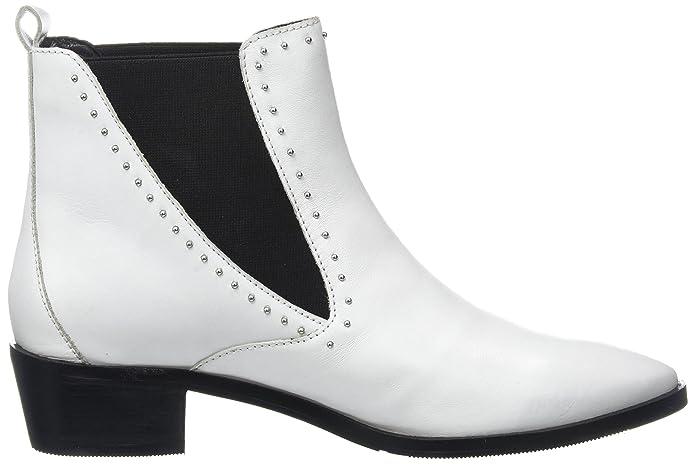 Bronx Bx 1431 Btex-Chunkyx, Botas Chelsea para Mujer, Blanco (White 04), 36 EU