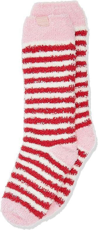 French Navy Stripe Joules Junior Girls Fluffy Socks