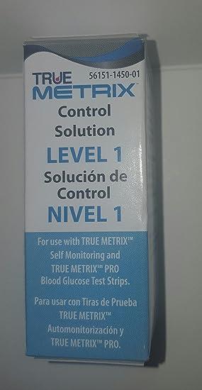 True Metrix Control Solution Level 1 for Meter (1 Each) 1: Amazon co