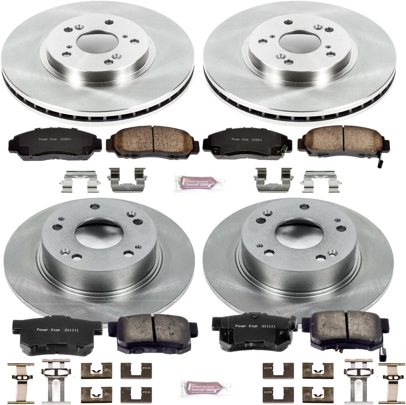 See Desc OE Replacement Rotors w//Metallic Pads F+R 2004 2005 2006 Chevy Optra