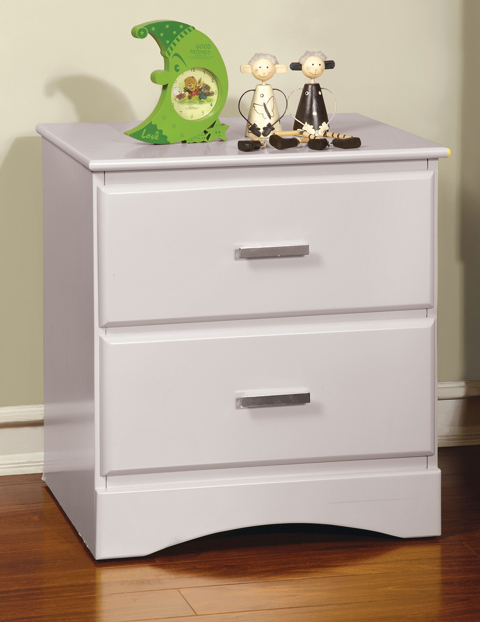 Furniture of America Kolora Youth Nightstand, White by HOMES: Inside + Out (Image #1)
