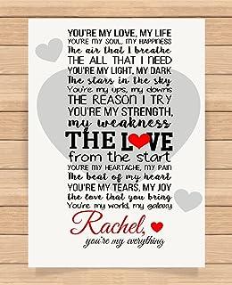 Personalised Romantic Love Letter Romantic Poem - Always & Forever ...