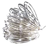 Amazon Price History for:Kumeda Solar String Lights, 100 LED Copper Wire Light 40ft Waterproof Wire Rope Lights for Outdoor Landscape Patio Garden Camping Christmas Party Wedding (White)