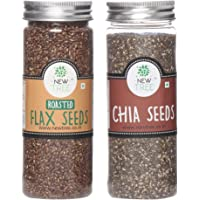 New Tree Roasted Flax Seeds and Chia Seeds, 350g (Pack of 2)