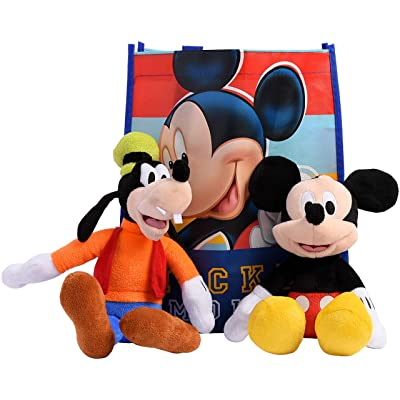 "Disney 11"" Plush Mickey Mouse & Friend 2-Pack in Gift Bag (Mickey & Goofy): Toys & Games"