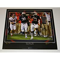 $219 » Chris Davis Jr Signed Autographed Auto Auburn Tigers 2013 Iron Bowl Museum Edition 27x23.5 Print w/There goes Davis - # to 50 - Proof