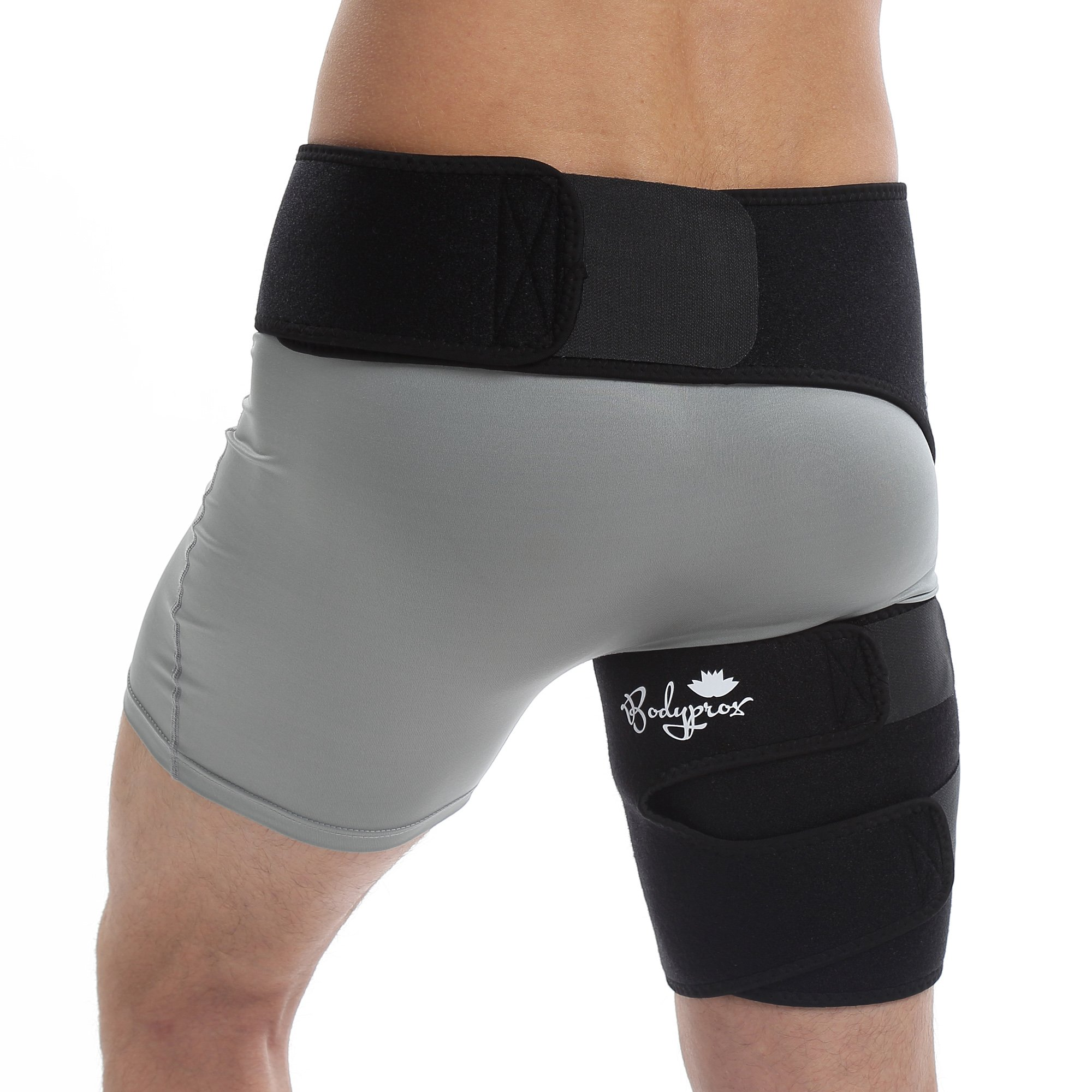 Groin Wrap, Adjustable Support for Hip, Groin, Hamstring, Thigh, and Sciatic Nerve Pain Relief by Bodyprox