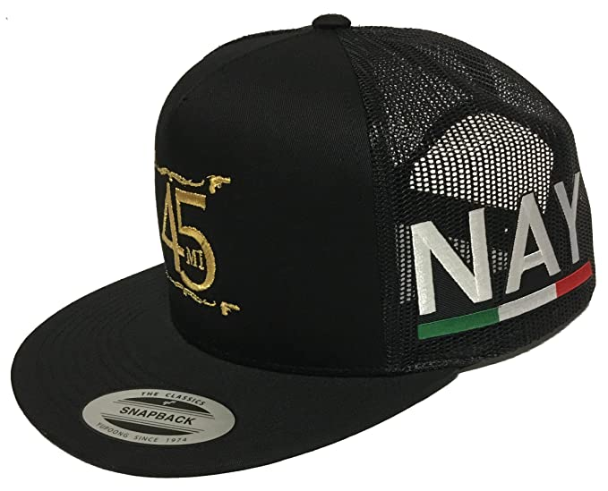 El Fantasma Y Su 45 Nayarit 2 Logos Hat Black Mesh Snapback at Amazon Mens Clothing store: