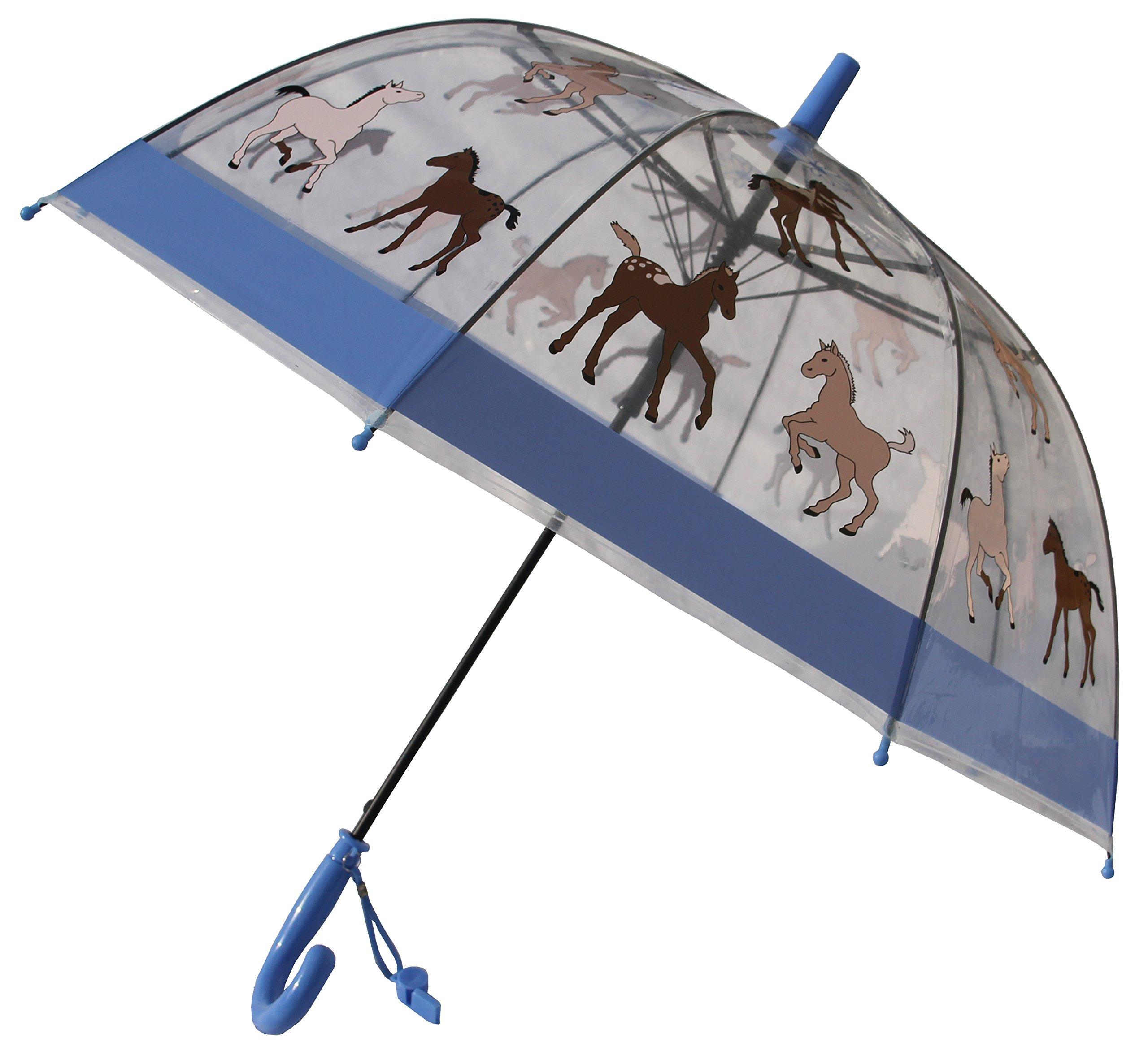 Foxfire for Kids Clear Dome Umbrella (Blue Pony)