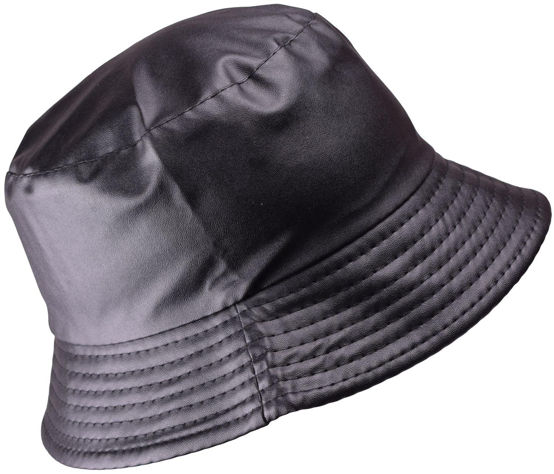 BODY STRENTH Black Fishing Hats for Women Bucket Rain Hat Waterproof Wide Brim Bucket Hat