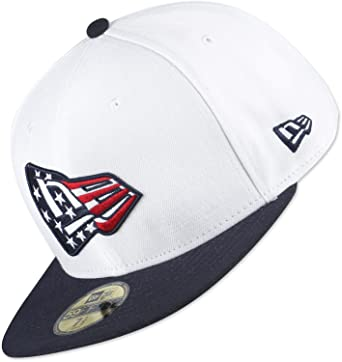 e728cfefe2c88c New Era 59Fifty Country Colors USA Flag Baseball Cap Hat in White & Black  (Size