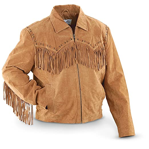 c5b170804 Scully Men's Fringed Suede Leather Short Jacket
