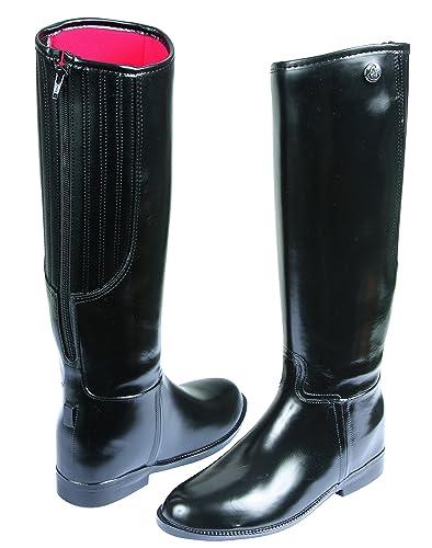 1dbe4ac55ddad3 Covalliero Flexo Bottes d'Equitation en PVC Cheval Noir Taille 31