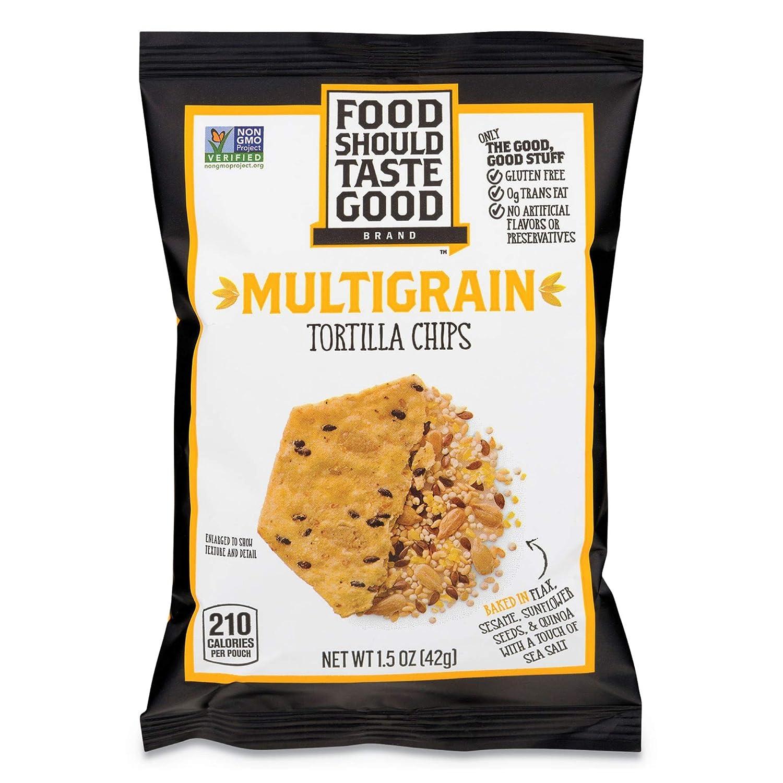Food Should Taste Good Multigrain Tortilla Chips, 1.5 Ounce - 24 per case.