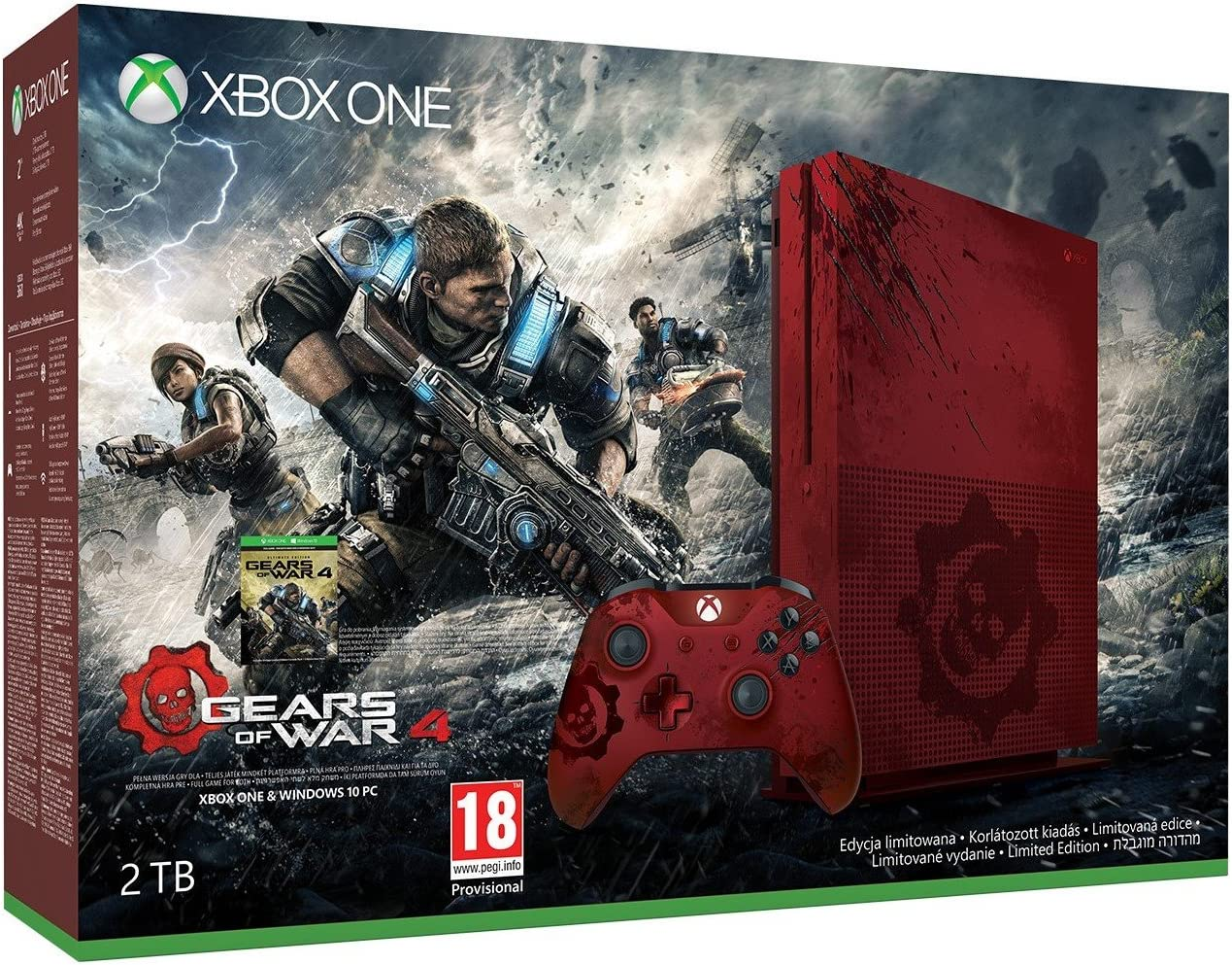 Xbox One S 2 TB Console - Gears Of War 4 Limited Edition Bundle ...