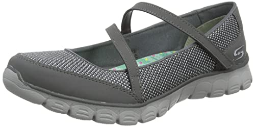 Skechers Women's Ez Flex 3.0 Stopover Mary Jane, Grey (Ccl), 3 UK
