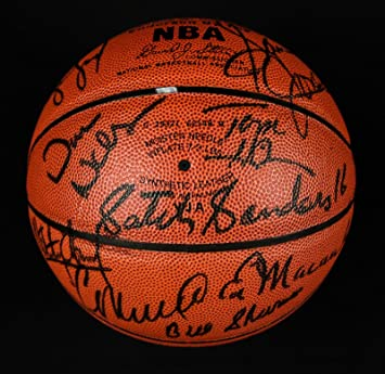 the latest c78a5 07a0c Boston Celtics Hall Of Fame Multi Signed Basketball Bill ...
