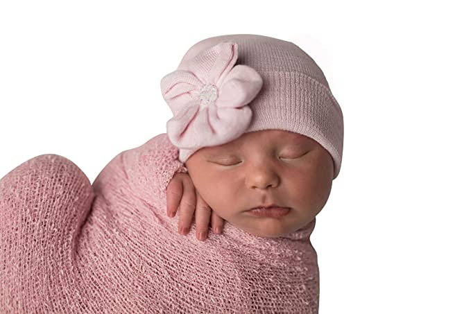 c06ff46106f Image Unavailable. Image not available for. Color  Melondipity Baby Pink  Sparkles Newborn Girl Hospital Hat