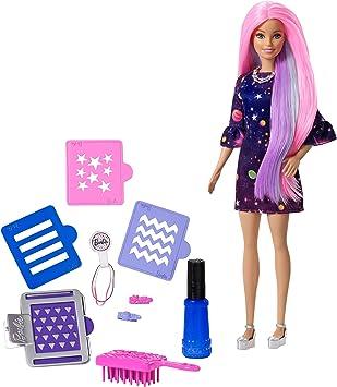 Amazon.es: Barbie Surprise Muñeca Fashionista, Peinados de Color ...