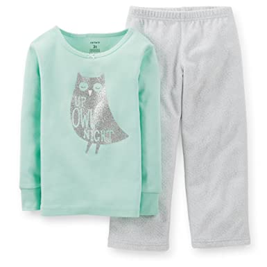 c38678fe4593 Amazon.com  Carter s Big Girls 2 Pc Fleece Cotton Pajama Set Pjs ...