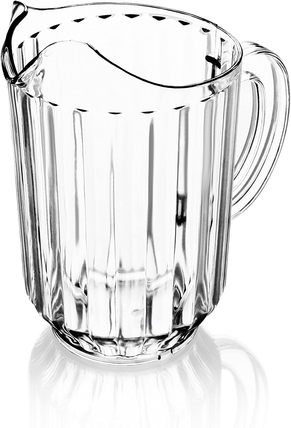 New Star Foodservice 46113 Polycarbonate Plastic Restaurant Water Pitcher, 60-Ounce, Clear, Set of 12