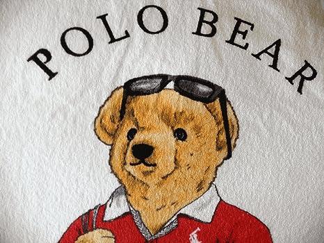 Ralph Lauren Polo oso XL toalla de playa (35 x 66