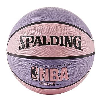 d8a304679bd0c Spalding NBA Street Ballon de Basket - Rose et Violet - intermédiaire  Taille 6 (72