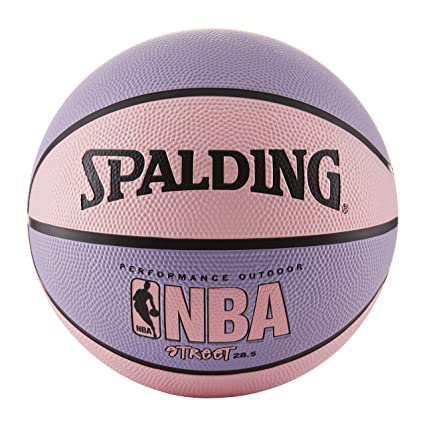 9a4dfb62c1ae Amazon.com   Spalding NBA Street Basketball - Pink   Purple - Intermediate  Size 6 (28.5