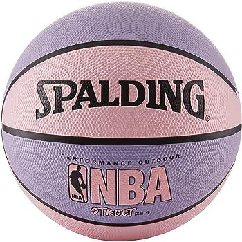Spalding NBA Street Pelota de baloncesto - Rosado y lila - Tamaño  intermedio 6 (28.5