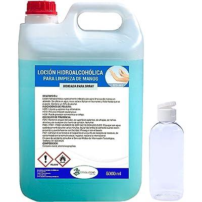 Ecosoluciones Químicas ECO- 901   5 litros   Loción Hidroalcohólica para manos   70% alcohol garantizado   Somos fabricantes, Calidad asegurada   INCLUYE BOTELLA 75 ML