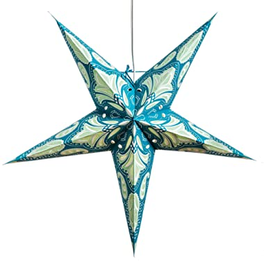 Lotus Paper Star Lantern with 12 Foot Power Cord Included