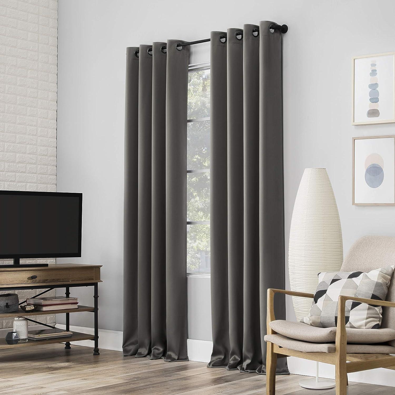 Sun Zero Nordic 2-pack Theater Grade Extreme 100% Blackout Grommet Curtain Panel Pair
