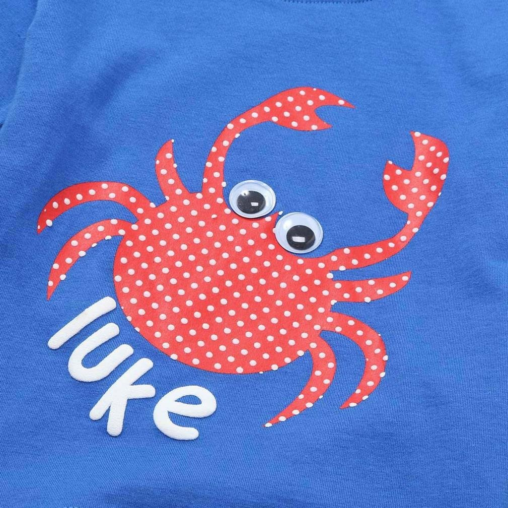 DIGOOD for 1-4 Years Old,Toddler Baby Boys Cartoon Crab Print T-Shirt+Pants,Children 2Pcs Outfits Summer Clothes Sets