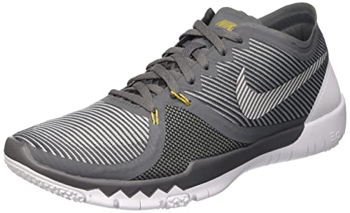 on sale 0e85c 42fe9 Nike Mens Free Trainer 3. 0 V4 Training Shoes Dark Grey/Metallic Gold/Black  749361-007 Size 11: Buy Online at Low Prices in India - Amazon.in