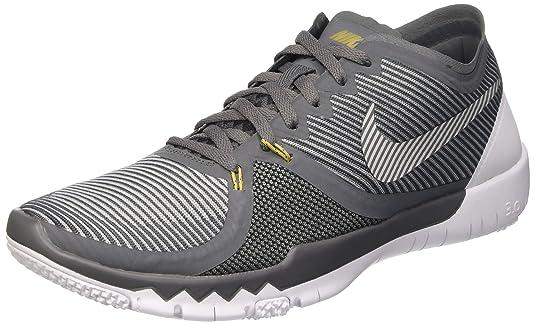 Nike Men's Free Trainer 3.0 V4, DARK GREY/WOLF GREY-METALLIC GOLD-BLACK, 10 M US