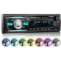 XOMAX XM-RSU261BT Autoradio avec Bluetooth I 7 couleurs d'éclairage (rouge, bleu, vert...) I USB, SD, AUX I 1 DIN