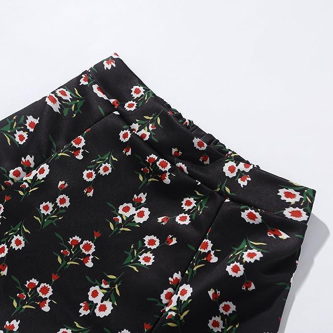 Floral Skirt Set 2pcs Dress KPOP BTS Blackpink Ikon Seventeen Stray Kids Twice Wanna One Top