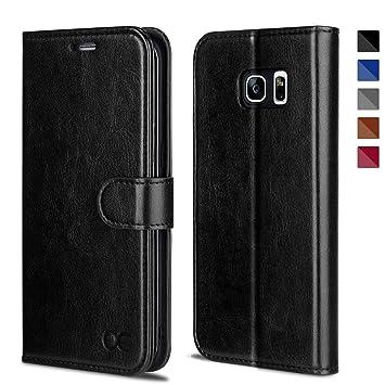 OCASE Samsung Galaxy S7 Edge Hülle Handyhülle [Magnetverschluss][ Premium Leder ][ Standfunktion ][ Kartenfach ] Brieftasche